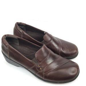 Clarks Esha Marigold Brown Leather Loafer